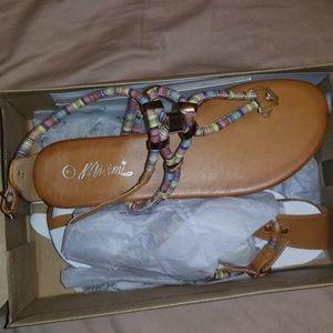 Mi.im boho sandals sz 7 NWB